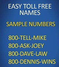 easy tollfree law numbers